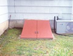Installation of metal bilco door for a basement
