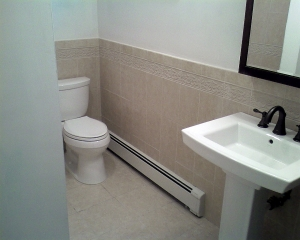 Total bathroom renovation