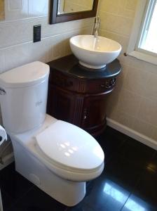 Vanity and toilet