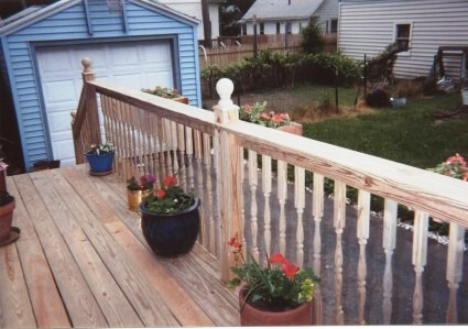 Back Entrance deck